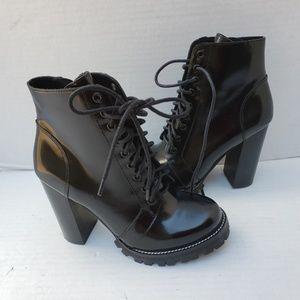 Jeffrey Campbell LEGION Boots Shoes Heel Black 8.5